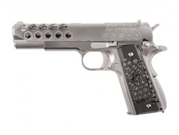 Пістолет WE Colt 1911 Hex Cut V.3 Silver GBB