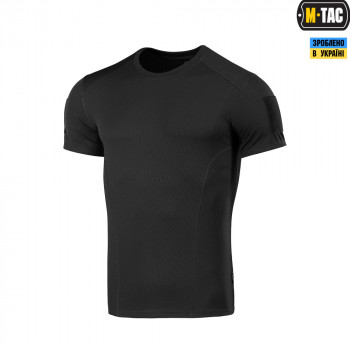 Футболка M-Tac Потовідвідна Athletic Velcro Black Size L